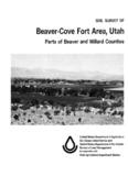 Soil Survey of Beaver-Cove Fort Area, Utah, Parts of Beaver and