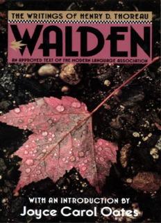 Thoreau, Henry D. - Walden
