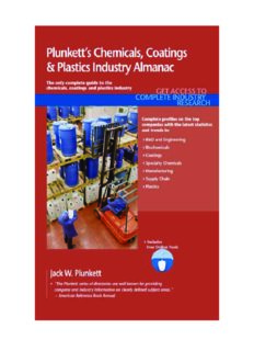 Plunkett's Chemicals, Coatings & Plastics Industry Almanac 2011: Chemicals, Coatings &  Plastics Industry Market Research, Statistics, Trends & Leading Companies