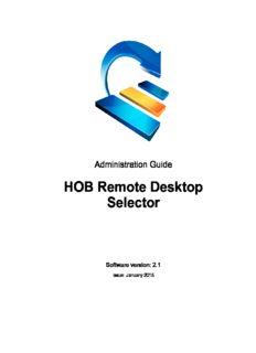 Download the HOB RD Selector Admin Guide - HOB, Inc.