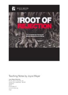 Teaching Notes by Joyce Meyer - Joyce Meyer Ministries: Asia