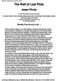 Jasper Fforde - Thursday Next 2 - The Well of Lost Plots