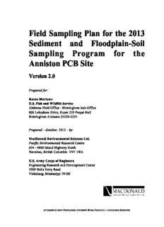 Field Sampling Plan for the 2013 Sediment and Floodplain-Soil Sampling Program for the Anniston ...