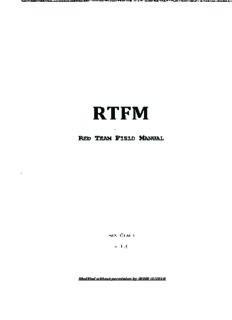 Rtfm: Red Team Field Manual by Ben Clark - PDF Drive