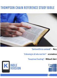 Thompson Chain Reference Study Bible (Kindle Edition) (EPUB)