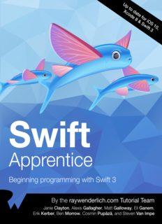 Swift Apprentice: Beginning Programming with Swift 3