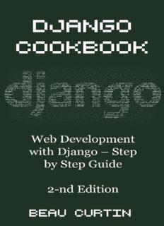 Django Cookbook  Web Development with Django - Step by Step Guide