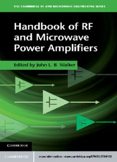 Handbook of RF and Microwave Power Amplifiers (The Cambridge RF and Microwave Engineering Series)