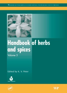 Handbook of Herbs and Spices - Volume 3