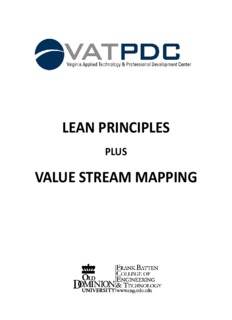 lean principles lean principles value stream mapping