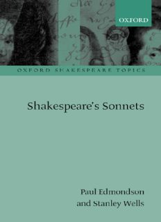 Shakespeare's Sonnets (Oxford Shakespeare Topics)