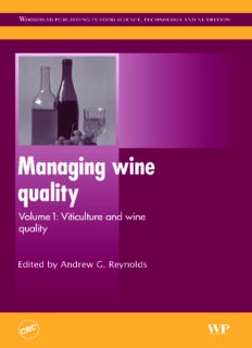 Managing Wine Quality: Volume 1: Viticulture and Wine Quality (Woodhead Publishing Series in Food Science, Technology and Nutrition)