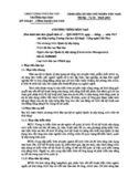 CHƯƠNG TRÌNH ĐÀO TẠO (Ban hành kèm theo Quyết định số ...../QĐ-ĐHKTCN, ngày .... tháng ...