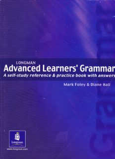 Advanced Learner's Grammar. A Self-study Reference and Practice Book with Answers