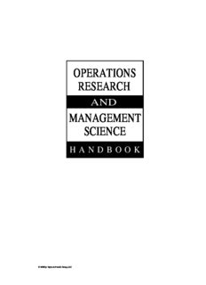 Operations Research and Management Science Handbook (The Operations Research Series)