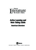 Active Learning and Note Taking Guide American Literature Glencoe