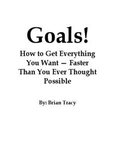 Goals - Advanced Life Skills