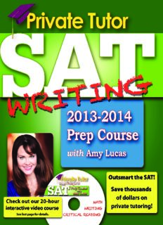 Private Tutor SAT Writing 2013-2014 Prep Course. The Ultimate Guide for Improving Your SAT Scores!
