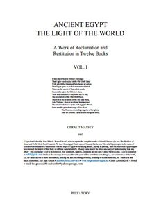 Ancient Egypt: The Light of the World - Gerald Massey