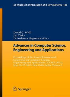 Advances in Computer Science, Engineering and Applications Proceedings of the Second International Conference on Computer Science, Engineering and Applications (ICCSEA 2012), May 25-27, 2012, New Delhi, India