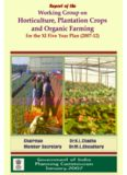 Horticulture, Plantation Crops and Organic Farming