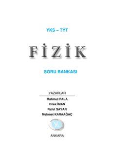 Karaağaç TYT Fizik Soru Bankası 2018-19