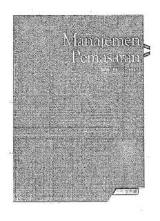 Philip Kotler, Manajemen Pemasaran Edisi 13 Jilid 1. intro