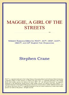 Maggie, A Girl of the Streets (Webster's Thesaurus Edition)