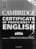 Cambridge Certificate of Proficiency in English 2 Student's Book: Examination Papers from the University of Cambridge Local Examinations Syndicate
