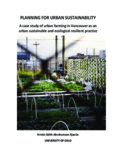 planning for urban sustainability - City Farmer's Urban Agriculture