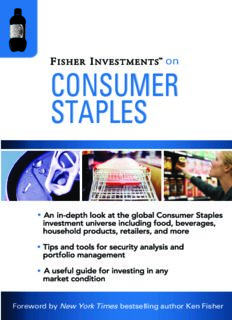 Fisher Investments on Consumer Staples (Fisher Investments Press)