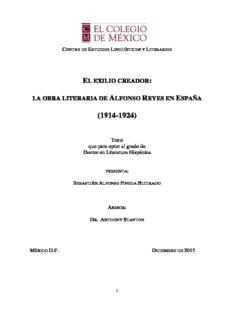 la obra literaria de alfonso reyes en españa