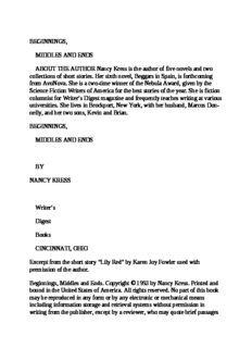Nancy Kress - Beginnings, Middles & Ends (Elements of Fictio