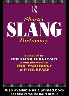 Shorter Slang Dictionary - Partridge Slang Online