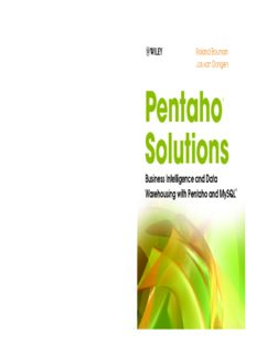0470484322 Pentaho Solutions Business Intelligence and Data Warehousing with Pentaho and ...