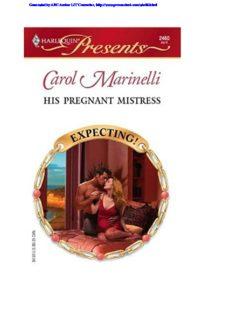 Carol Marinelli - His pregnant mistress