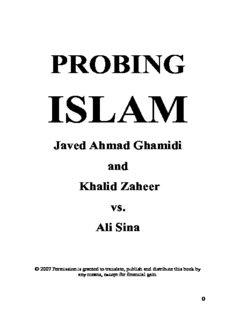20231222-PROBING-ISLAM-Javed-Ahmad-Ghamidi-vs-Ali-Sina
