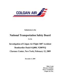 Colgan Submission - AirSafe.com