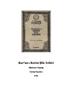 Kur'an-ı Kerim Şifa Tefsiri