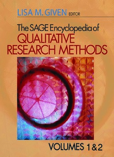 The Sage Encyclopedia of Qualitative Research Methods