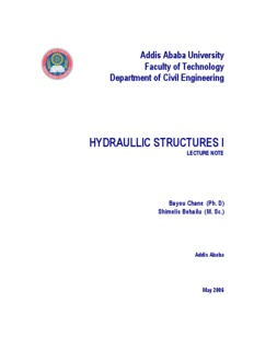 hydraulic structure lecture note