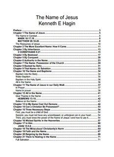 The Name of Jesus Kenneth E Hagin - Ekklesia