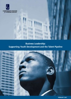 Business Leadership Supporting Youth Development and the Talent Pipeline