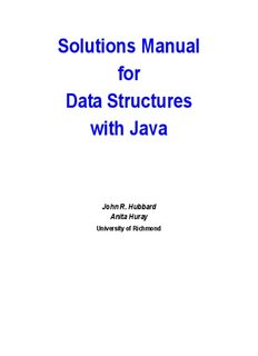 Solutions Manual for Data Structures with Java