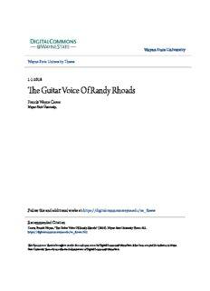The Guitar Voice Of Randy Rhoads
