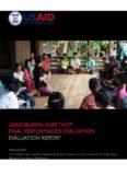 usaid/burma shae thot final performance evaluation evaluation report