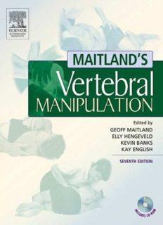 Maitland's Vertebral Manipulation 7th Edition