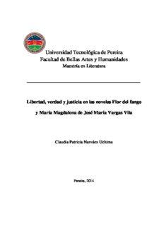 Libertad, verdad y justicia en las novelas Flor del fango y María Magdalena de José María Vargas