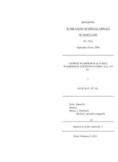 The George Wasserman and Janice Wasserman Goldsten Family Limited Liability Company v. Kay