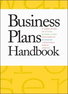 Business Plans Handbook, Volume 13: A Compilation of Actual Business Plans Developed by Businesses Throughout North America (Business Plans Handbook, 2007)